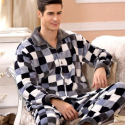 Mens fleece pajamas