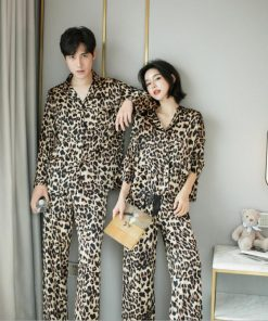 Leopard Print Couple Pajamas Set