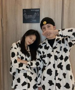 Cow Print Pajama Set