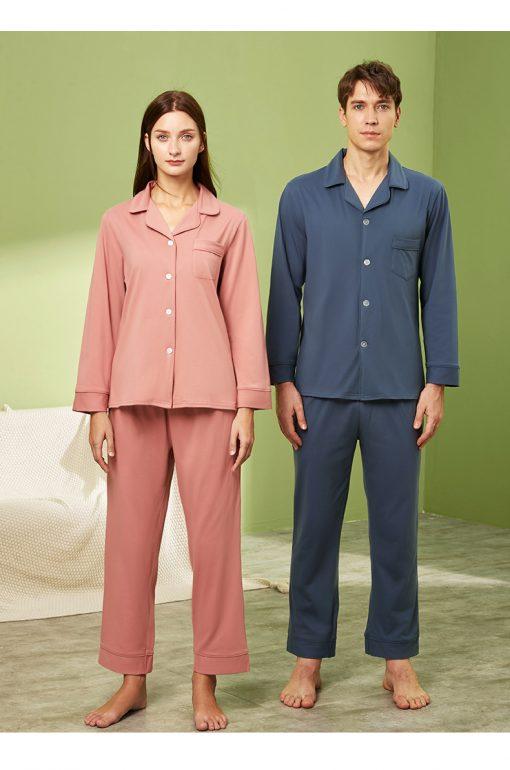 Long sleeve couple sleepwear